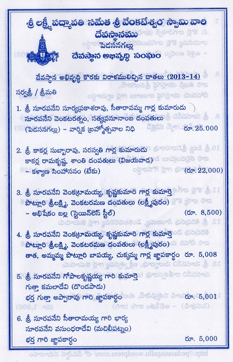 2014_Devasthanam_Donations